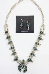 Zuni Needlepoint Squash Blossom With Turquoise