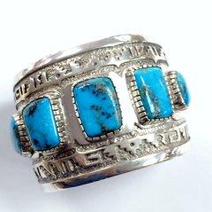Large Turquoise Silver Bracelet