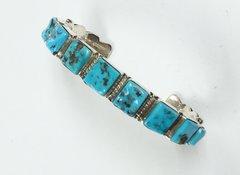 Navajo Silver one Row Bracelet