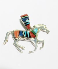 Reversible Horse Pendant Night Vision and multi Colors
