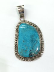 Turquoise Silver Large Pendant