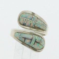 White Lap Opal Ring