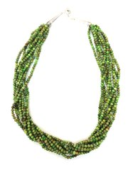 Nine Strands Turquoise Green Necklace
