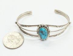 Beautiful Navajo one Stone Bracelet