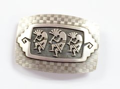 Hopi Silver Belt Buckle
