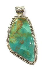 Nevada Green Turquoise Silver Pendant