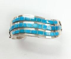 Navajo Silver three Rows Bracelet