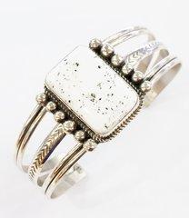 White Turquoise Silver Bracelet