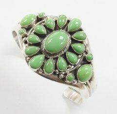 Gaspeite Silver Navajo Bracelet
