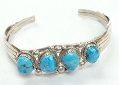 Navajo Silver 4 Stones Bracelet