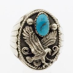 Eagle with Turquoise Ring