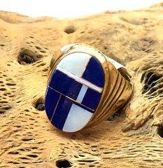 14K Gold Navajo Ring Inlay.