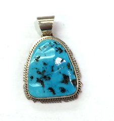Turquoise Navajo Silver Pendant