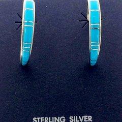 Turquoise Large Hoop Earring.