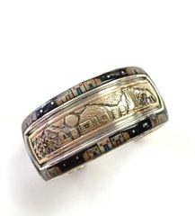 14K-Gold Over Silver Cuff Bracelet Night Vision