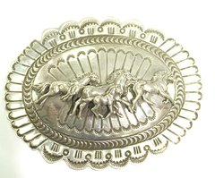 Silver Buckle With Horses