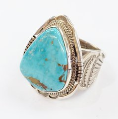 Dry Creek Turquoise Silver Nice Heavy Ring