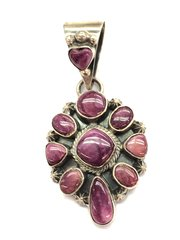 Nice Purple Spiny Silver Pendant