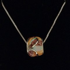 Spiny and Lap Opal Inlay Necklace