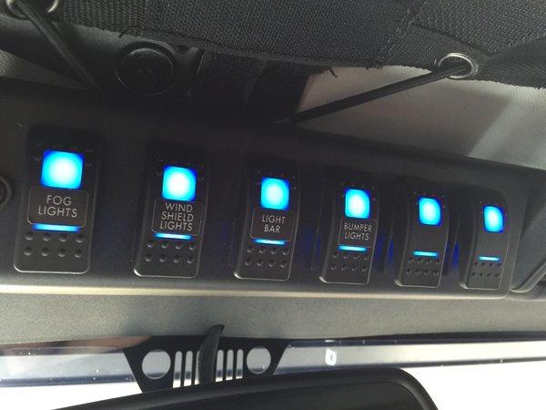 Spod 2009 2018 Jk 6 Switch Spod Amp Source System Led