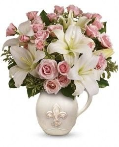 French Country pot pink