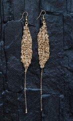 Gold Slim Chainlace Earrings