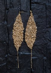 Gold Chainlace Earrings