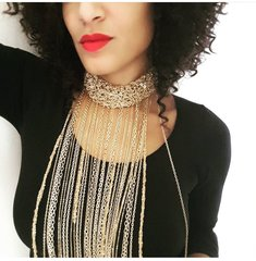 Cascade Gold Choker Necklace