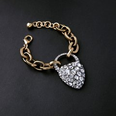 Heart Lock Charm Bracelet