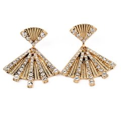Fan Shape Drop Earrings