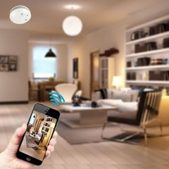 Wi-Fi Hidden Camera Smoke Detector Wireless Spy Camera Motion Activated Recording Nanny Cam P2P Network Video Camera