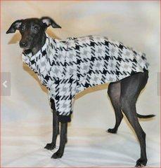Grey-houndstooth Dog Sweater