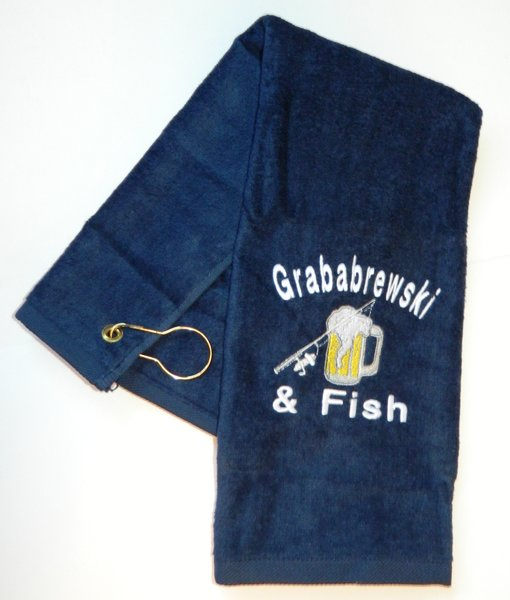 Grababrewski & Fish Fishing Towel