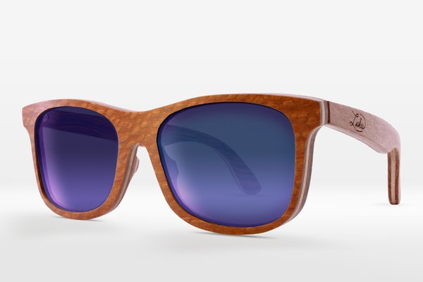 LEOPARDWOOD FRAMES: OCEAN BLUE MIRROR