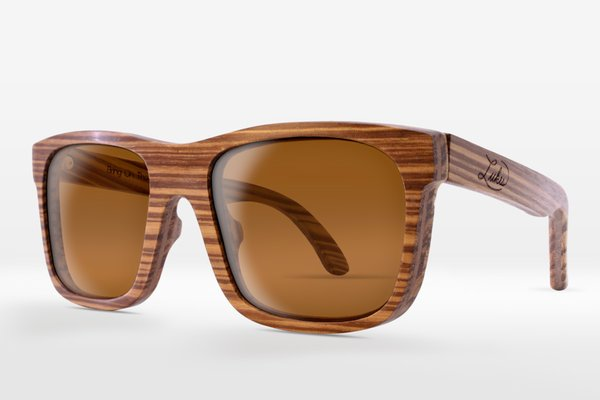 ZEBRAWOOD FRAMES: CLASSIC BROWN