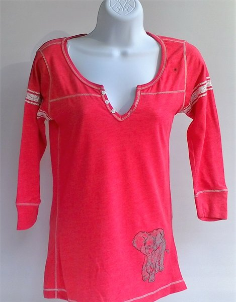 Womens Red Peasant Top