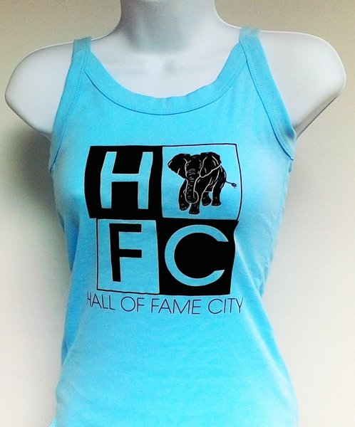 Women's Light Aqua Hall Of Fame City Tank