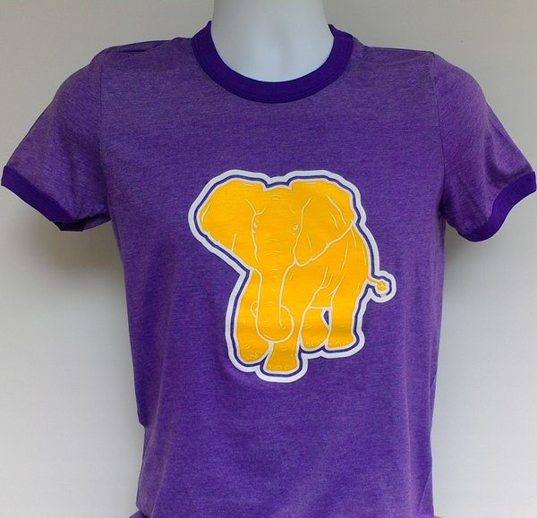 Purple Ringer Heather Tee