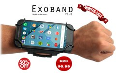 Exoband v1.0: Armband + Wristband 50% off