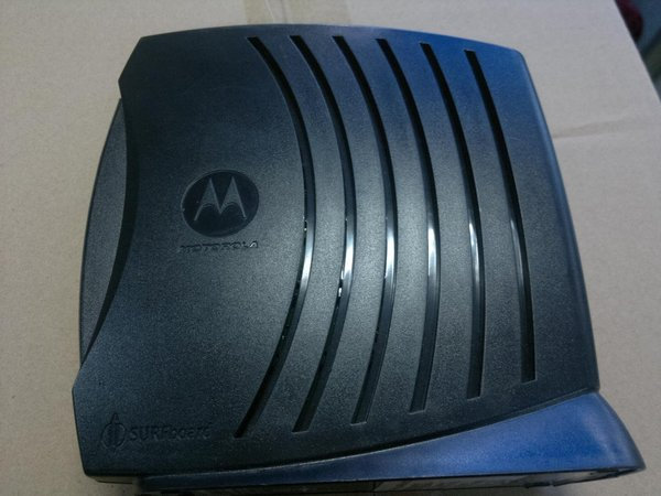 motorola cable modem. motorola surfboard sb5120 docsis 2.0 cable modem - non-retail packaging (brown box)