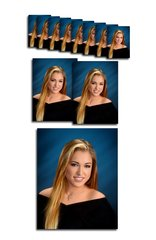 F Package, 1 Pose Basic 11 Portraits,1-8x10,2-5x7, 8 wallets