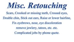 Miscellaneous Retouching