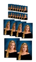 D Package - 2 Pose Academy 22 Portraits - 2 x 8x10, 4 - 5x7, 16 Wallets