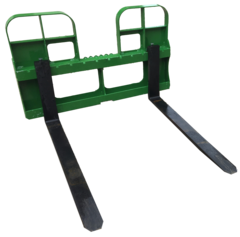 "John Deere style quick attach pallet forks, 4200 lb capacity, 48"" forks with SHIPPING INCLUDED to freight terminal"