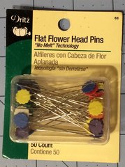 Dritz Flat Flower Head Pins