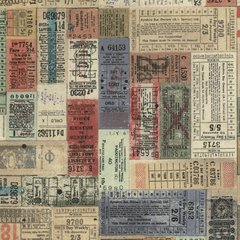 Tim Holtz Correspondence Transportation Tickets - Multi