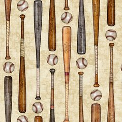 Grand Slam Baseball Bats & Balls by Dan Morris