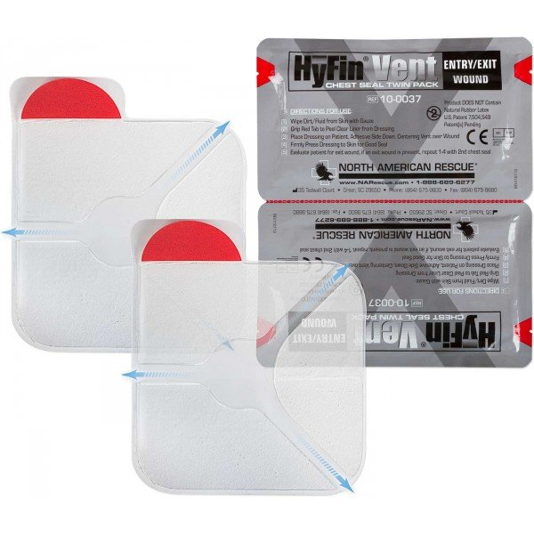 Hyfin Chest Seal Twin Pack
