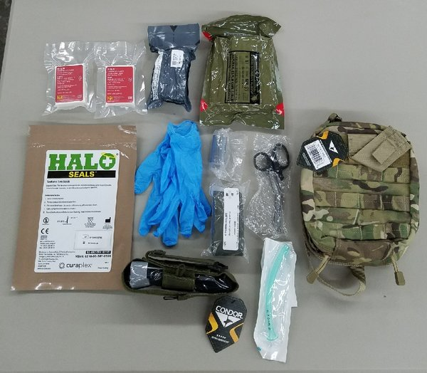 Rip-away IFAK - kitted by Stormseeker - tri-fold pouch - MOLLE