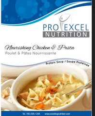 (174) ProExcel Nourishing Chicken and Pasta Soup - - - UNRESTRICTED